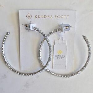 Kendra Scott Birdie Silver Hoop Earrings